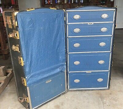 Vintage Royal Robe Wardrobe Trunk
