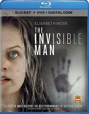 The Invisible Man(Blu-Ray+Dvd+Digital)W/Slipcover New Free Shipping