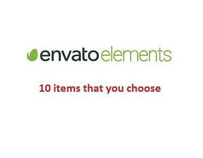 Envato elements 10 items on your choose  ✅ FAST DELIVERY
