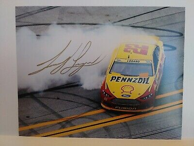 joey logano Signed 11x14 Photo NASCAR Driver Pennzoil Racer Champion donuts
