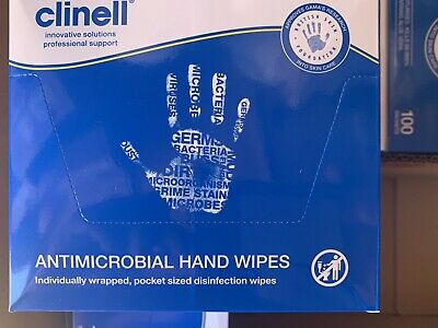 Clinell Hand wipes - 100 individually sealed sachets