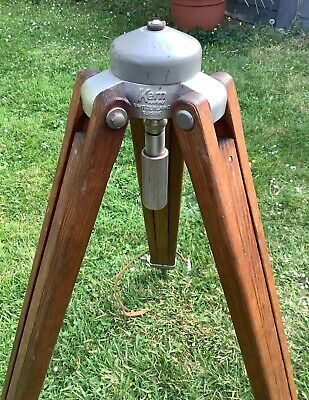 Vintage Swiss Kern Wooden Tripod - Theodolite/Strand Theatre Light/ Lamp Stand