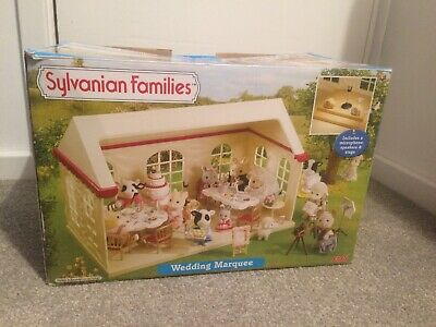 sylvanian families wedding Marquee with box