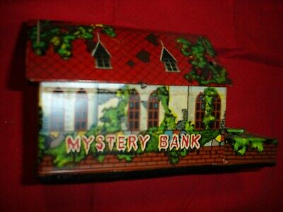 VINTAGE MYSTERY BANK TinToy JAPAN Grabbing Green Hand Works