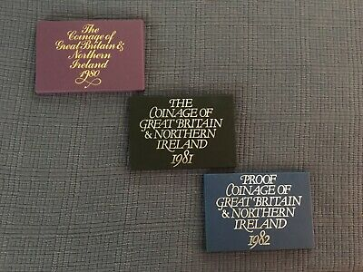 Proof Coinage Great Britain Northern Ireland 1980 1981 1982 Royal Mint NO Res