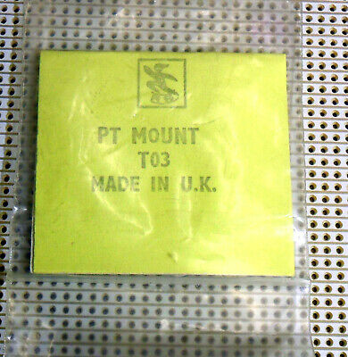 TO3 Power Transistor Mounting Pads and Mica RS RadioSpares 4 in Pkt