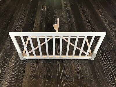 Baby Dan Wooden Bed Guard in White - Used but in Good Condition