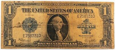 Series 1923 LARGE Silver Certificate $1 One Dollar Bill