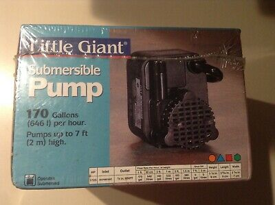 Little Giant 1/125 HP Submersible Pump 170 gallons per hour
