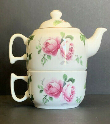 Heirloom Fine Bone China Cup & Nesting Teapot Tea for One