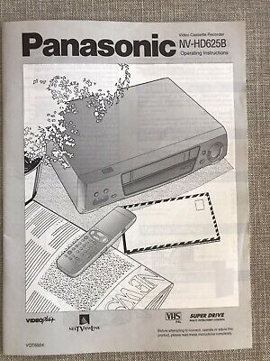 PANASONIC NV-HD625B video cassette player Operating Instructions