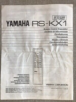 YAMAHA RS-KX1 Remote Control Owners Manual