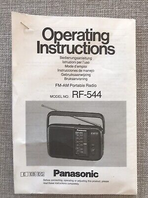 Panasonic RF-544  Radio Operating Instructions - Manual