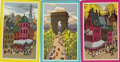 PLACES - 3     old single vintage swap playing cards