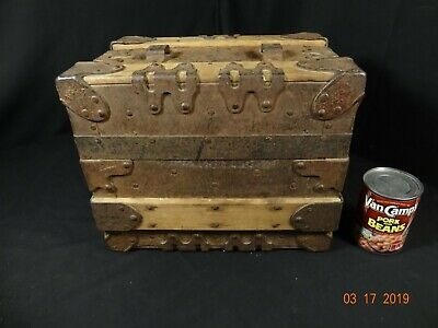 RARE Antique Salesman's Sample Freling & Steinle Baggage Makers Trunk Omaha NE