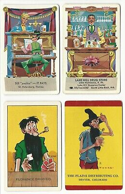 ADS - 4    old single vintage swap playing cards