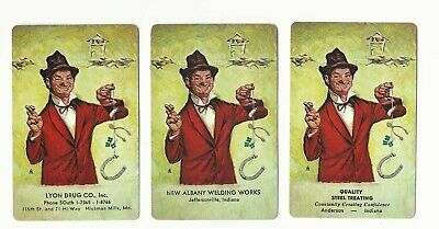 ADS - 3    old single vintage swap playing cards