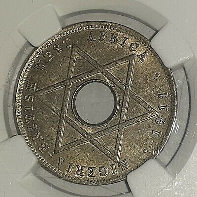 NGC MS61 1911H British West Africa 1/2 penny km5