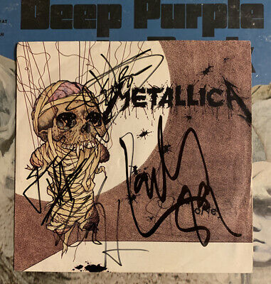 """1988 Signed/Autographed X4 METALLICA 45rpm 7"""" Vinyl Record ONE/THE PRINCE"""