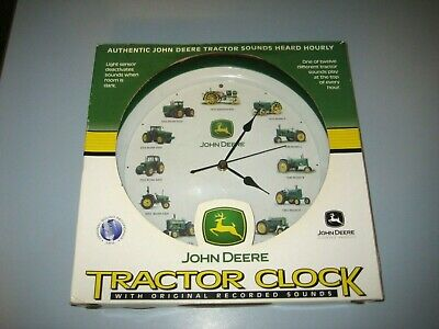 John Deere Tractor Clock with Original Recorded Sounds Heard Hourly New in Box