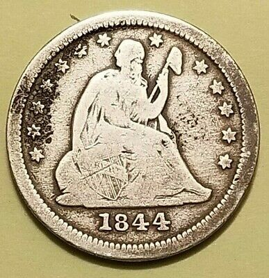 1844-O Low Mintage Seated Liberty Quarter In Vg Condition