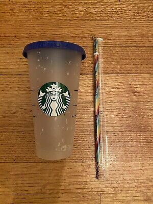 Starbucks Confetti Color Changing Cup With Rainbow Straw Summer 2020