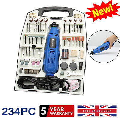 234pc Rotary Power Drill Accessory Kit Pro Dremel Multi Tool with case DIY