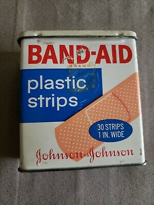 Vintage Metal Band-Aid Box 30 Strips Johnson & Johnson Empty Collectible Tin