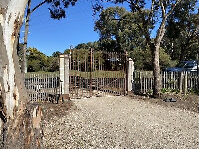 Original wrought iron driveway gates From Melbourne GENERAL POST OFFICE