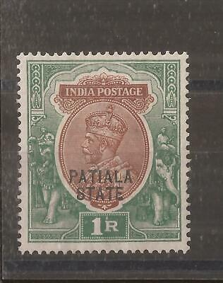 INDIA  PATIALA  STATE 1912  KGV 1r mh