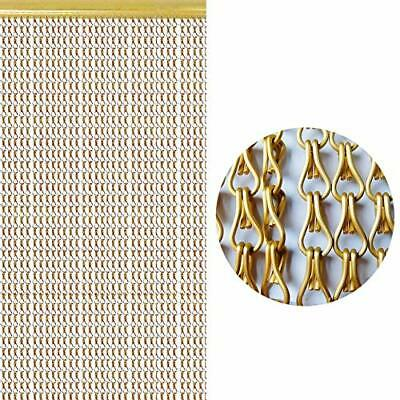 SZIVYSHI Gold Aluminium Chain Curtain Metal Screen Fly Insect Blinds Pest