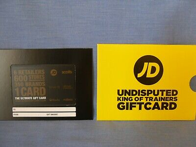 £50 JD Gift Card Voucher, Scotts, Millets, etc  Balance Verified - Delivery Only