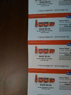 Enfagrow Coupons (5) Total $16 Expire July 31