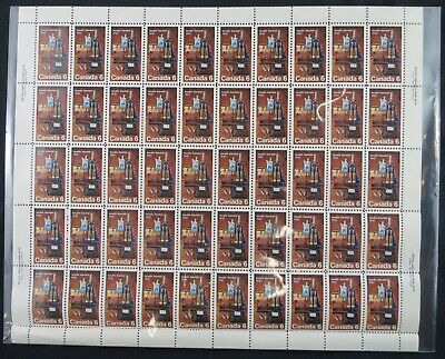 1971 Canada Stamp Sheet #533 MNH 50 stamps - Discovery of Insulin Laboratory