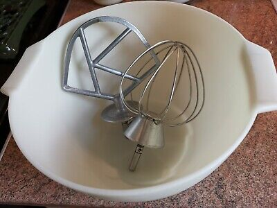 KENWOOD PLASTIC KENLYTE Mixing Bowl K Beater and Balloon Whisk