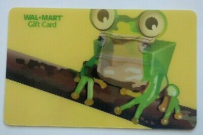 Walmart Gift Card - Lenticular Frog / Picture Changing -No Value -I Combine Ship