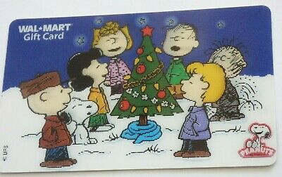 Walmart Gift Card - Lenticular Peanuts Christmas Snoopy Charlie Brown - No Value