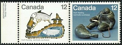 Canada sc#749a Inuit Hunting: Seal Hunter & Fisherman's Dream, Mint-NH