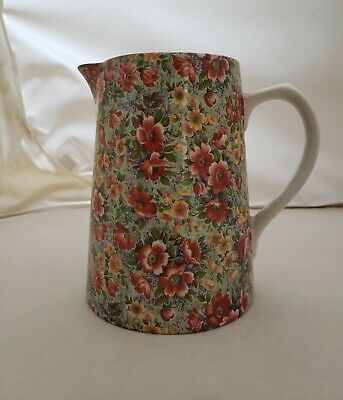 """Vintage CHINTZ Lord Nelson Potter Pitcher  BRIAR ROSE Pitcher Jug 6 1/2"""" Tall"""