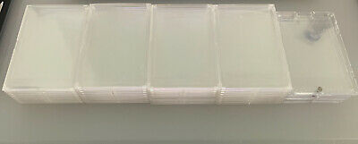(45) PRO RECESSED SNAP STANDARD SIZE Trading Card Holder Plastic Case ( USED )