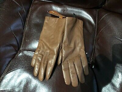 Womens Gloves Brown Leather Brand New Size 7M