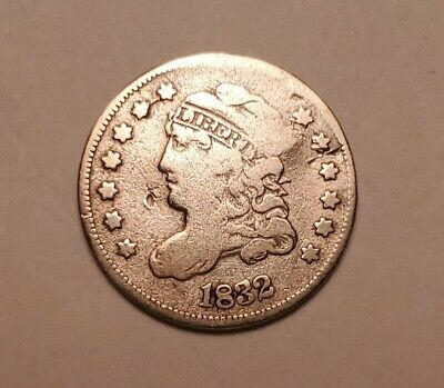 1832 Capped Bust Half Dime Better Date Us Silver Coin