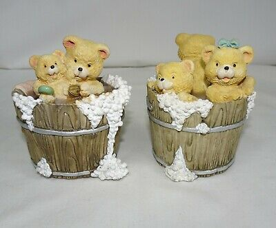 Teddy Bears Washing Time In a Barrel Tub Hand Made by Academy