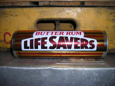 vintage Butter Rum Life Savers Tin can qn516