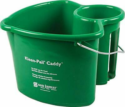 San Jamar KP550GN Kleen-Pail Commercial Cleaning Caddy Only, Green Caddy Only