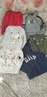 Girls Clothes Bundle Size 5-6 Year jumpers. H& M. M&S