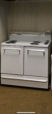 Vintage Antique Old Art Deco Electric Whirlpool Range Stove Oven