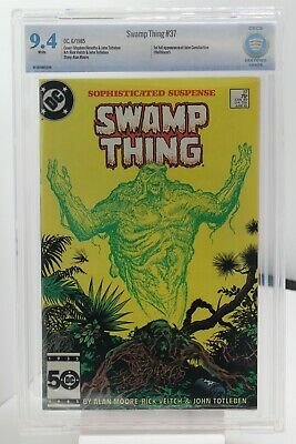 SWAMP THING # 37 - CBCS 9.4 - DC - Copper Age - 1st full App of JOHN CONSTANTINE