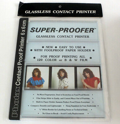 Photax Super-Proofer Glassless Contact Printer for 120 Film