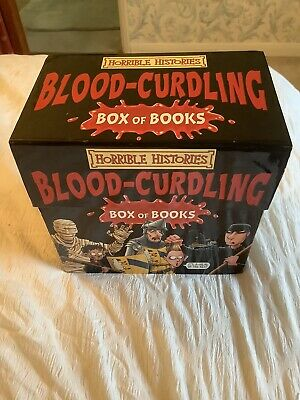 Horrible Histories Blood-curdling Box Of Books 20 Book Box Set - Nearly New